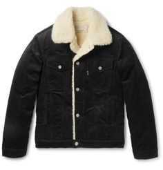 Record label turned clothing brand <a href='http://www.mrporter.com/mens/Designers/Maison_Kitsune'>Maison Kitsuné</a> has attracted a cult following with its cool Parisian staples. This cotton-corduroy jacket is cut slim and has a shearling-effect wool-blend collar and lining, ensuring a cosy feel on those chilly winter afternoons. This rugged workwear-inspired design will make a fine pairing with one of the house's signature printed tees.