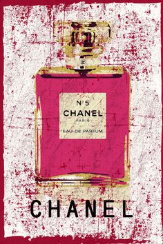 Grunge Abstract Chanel no 5.