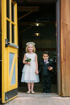 Flower girl & ring bearer // Kerinsa Marie Photography // http://www.theknot.com/submit-your-wedding/photo/49b71f67-8e7c-4371-9e72-e0f90e78ad8c/Ten-Mile-Station-Wedding