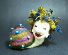 Rebecca Snail - a ooak needle felted figure / sculpture / doll by CWPoppets by CWPoppets for $125.00