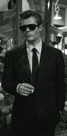 <3 Marcello Mastroianni in La Dolce Vita (Federico Fellini, 1960)