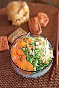 Bo-bun végétarien (bobun peulaé)