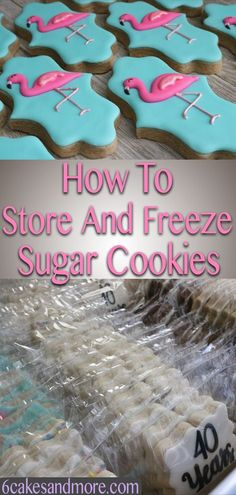 to store and freeze sugar cookies! Here's a great and informative post on how to store and freeze your decorated and undecorated sugar cookies!Here's a great and informative post on how to store and freeze your decorated and undecorated sugar cookies! Cookies Cupcake, Iced Sugar Cookies, Frozen Cookies, Christmas Sugar Cookies, Holiday Cookies, Birthday Cookies, Decorated Sugar Cookie Recipe, Sugar Cookie Royal Icing, Best Royal Icing Recipe For Cookies