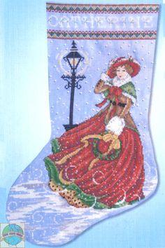 Design Works - Victorian Winter Stocking - Cross Stitch World