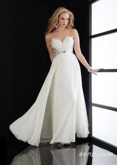 white evening dress