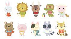 Personajes para colección infantil