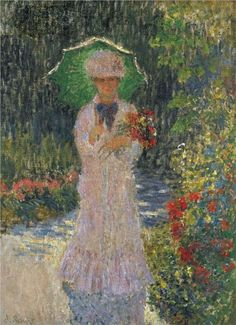 Camille with Green Parasol - Claude Monet, 1876