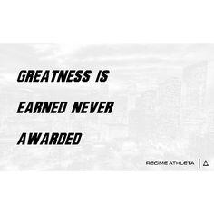 Greatness Is Earned, Never Awarded. #MotivationalMonday #belimitless #regimeathleta regimeathleta.com North Face Logo, The North Face, Monday Motivation, Never, Awards, Instagram