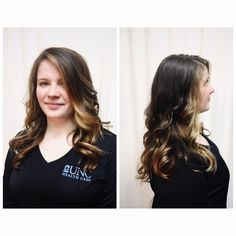 Balayage, golden blonde, brunette, highlights, hair color, curls