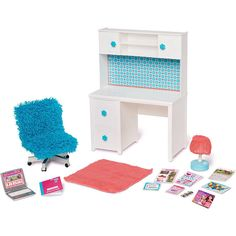 My Life As Desk And Chair School American Girl Our Generation Doll Casa American Girl, Muebles American Girl, American Girl Doll Room, American Girl Furniture, American Girl Crafts, American Doll Stuff, American Girls, Barbie Doll Set, Barbie Doll House
