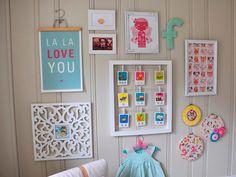 quadrinhos para quarto de bebe menina moderno - Pesquisa Google