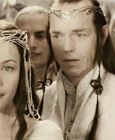 The moment Elrond knew he was giving up his daughter =((