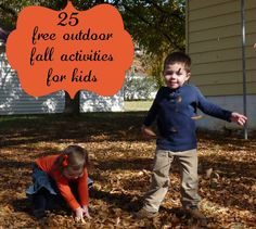25 Free Fall Outdoor Activities for Kids - Imperfect Homemaker Autumn Activities For Kids, Fun Activities, Money Saving Mom, Outdoor Fun, Outdoor Games, Autumn Theme, Happy Fall, Fall Crafts, Fall Halloween