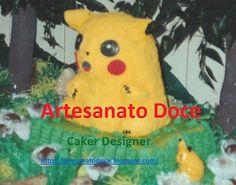 Artesanato  Doce: Bolo pikachu 1995