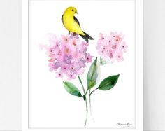Watercolor Painting Art Illustration Floral by stephanieryanart