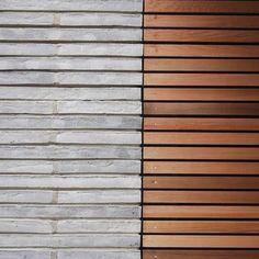 Where concrete and wood come together En Detalle: Belsize Crescent / Studio 54 Architecture Wood Facade, Concrete Facade, Timber Cladding, Concrete Wood, House Cladding, Studio 54, Concrete Architecture, Architecture Details, Interior Architecture