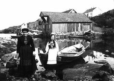 DigitaltMuseum - Landro Bergen, Fishing Boats, Norway, Sea, History, People, Pictures, Women's, Historia