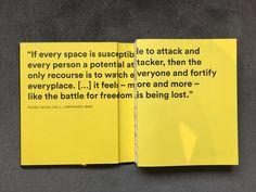 The City Between Freedom and Security av Deane (EDT) Simpson, Vibeke (EDT) Jensen, Anders (EDT) Rubing INBUNDEN, Engelska, 2016 Creative director: Marcus Gärde Graphic design/layout: Carl-Johan Nordin, Jonas Bard  Birkhaüser Verlag https://www.degruyter.com/viewbooktoc/product/467003?rskey=Ftp1dF&result=1