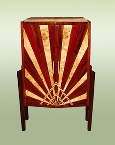 Fabulous French Art-deco Style Chiffonier / Cabinet                                                                                                                                                                                 More