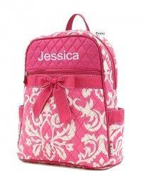 Damask Print Backpack..for addison