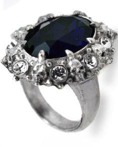 "☆ A Dark Engagement Pewter Skull Ring ""By Alchemy Gothic"" :¦: Shop: Gothic Plus ☆"