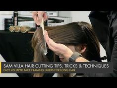 Simple Way To Cut V-Shaped Face Framing Layers for Long Hair | Sam Villa Blog#.VVwUjGN_mM8#.VVwUjGN_mM8