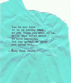 Typewriter poem #90 | Mary Kate Teske