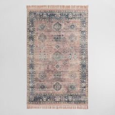 Persian Style Alma Indoor Outdoor Patio Rug with Backing: Multi Polyester 5 x 8 by World Market - Outdoor Rugs - Ideas of Outdoor Rugs - Persian Style Alma Indoor Outdoor Rug with Backing World Market Rug, Rug World, Design Blog, Home Design, Interior Design, Indoor Outdoor Area Rugs, Outdoor Living, Outdoor Spaces, Affordable Area Rugs