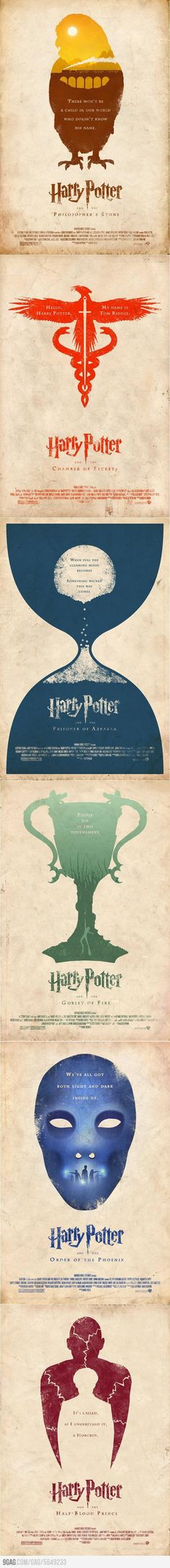 minimalistic Harry Potter books covers