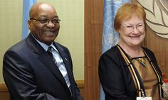 Tarja and Jacob Zuma share a joke
