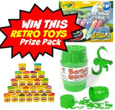 Win this 3-piece Retro Toys prize pack as part of Wonder and Company's Ultimate Retro Toys Gift Guide and giveaway : who couldn't use a new 24 pack of Play-Doh?!