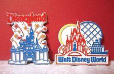 Walt Disney World Disneyland 2 Vintage Magnets Theme Park Rubber Castle Fridge............................................................Please save this pin... ........................................................... Visit!.. http://www.ebay.com/usr/prestige_online