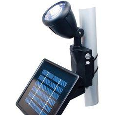 Moonrays 92320 Solar Flag Pole Light Kit With Rechargeable