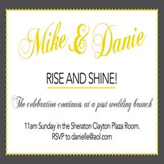 awesome 12+ day after wedding brunch invitations