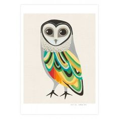 A4 The Hopeful Sooty Owl Print