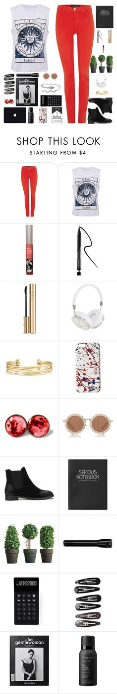 """RED"" by lia-fashion on Polyvore featuring J Brand, TheBalm, Clinique, Dolce&Gabbana, Frends, Stella & Dot, Marc Jacobs, House of Holland, Topshop and LEXON"