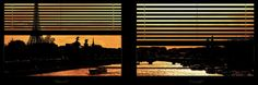 Window View - Color Sunset in Paris with the Eiffel Tower and the Seine River - France - Europe Photographic Print by Philippe Hugonnard at AllPosters.com