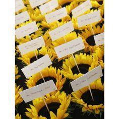 sunflower escort cards