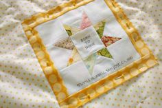 adding a quilt label