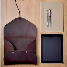 Ipad size handmade leather folder by FieldTheories
