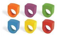 Kikkerland Round Crayon Rings, Set of 6 (4318)