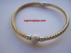 #Pulsera de #plata chapada www.capricciplata.com www.facebook.com/... .