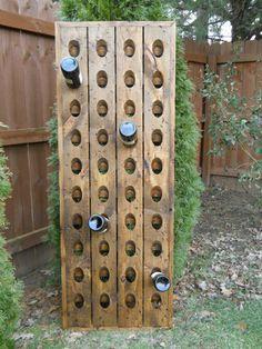 Distressed Riddling Rack,Tavern Grade Wine Rack,  Distressed Wine Rack, Pottery Barn Style Riddling Rack,. $169.00, via Etsy.