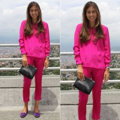Think Pink #stealthelook #look #looks #streetstyle #streetchic #moda #fashion #style #estilo #slipper #camisa #clutch