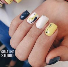 Nail Art Hacks, Gel Nail Art, Nail Manicure, Us Nails, Swag Nails, Hair And Nails, Rockabilly Nails, Art Deco Nails, Semi Permanente