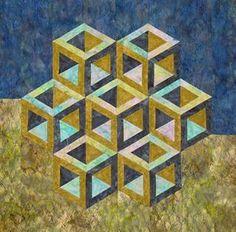 Quilt Inspiration: Cubic construction