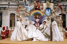 Catherine Deneuve dans le film Peau d'Ane de Jacques Demy en 1970 http://www.vogue.fr/mode/inspirations/diaporama/les-robes-de-mariee-au-cinema/15367/image/870242#!catherine-deneuve-dans-le-film-peau-d-039-ane-de-jacques-demy-en-1970