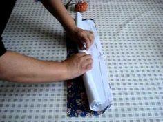 Aprenda a pregar barrados em pano de prato com muita facilidade e sem usar passa fitas.