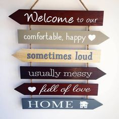 Are you interested in our Welcome to our home arrow sign? With our wooden family home sign for the home you need look no further.