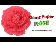 In this episode we show you how to make a giant paper rose    For more information about this tutorial visit :      http://www.simplekidscrafts.com/  http://www.artsandcraftstv.com/    and English:    http://www.manualidadesconninos.com/  http://www.manualidadestv.com/    Simple Kids Crafts (www.simplekidscrafts.com) is a video blog dedicated to children's a...